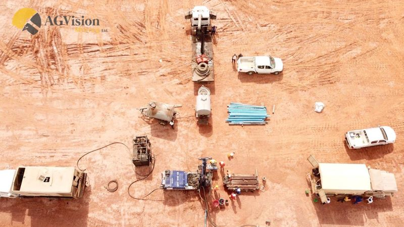 Aerial view of drill rig setup in Nasarawa Sate - provided by AG Vision