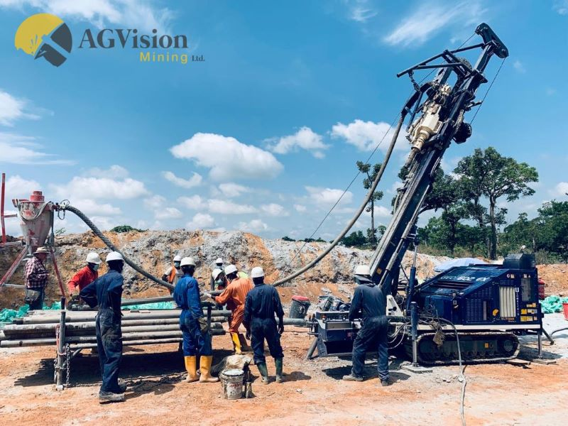AG Vision drill crew drilling some deep RC holes in Nasarawa Sate - provided by AG Vision.